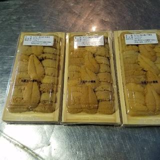 稚内産高級寿司屋用作り生キタムラサキウニ木折120g✖️3枚入り