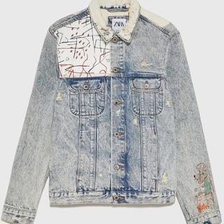 ZARA - バスキア デニムジャケット ザラ Basquiat ZARA  Sサイズ