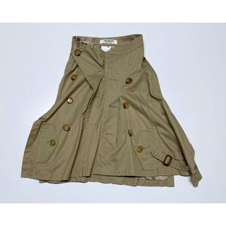ジュンヤワタナベ(JUNYA WATANABE)のA092 ジュンヤワタナベ 05AW 再構築 トレンチスカート サイズSS(ひざ丈スカート)