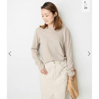 DEUXIEME CLASSE - spring-like Tシャツ ベージュ 未開封新品タグ付き