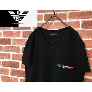 Emporio Armani - 【美品・好カラー】エンポリアルマーニ ロゴプリント 半袖シャツ