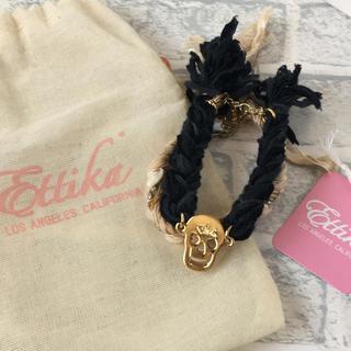 エティカ(Ettika)のL.A.発 エティカ  スカルブレスレット Ettika SKULL チャーム(ブレスレット/バングル)