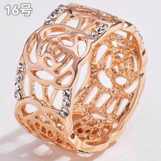 【SWAROVSKI】『天空の薔薇』金属アレルギー対応 クリスタルリング 指輪(リング(指輪))