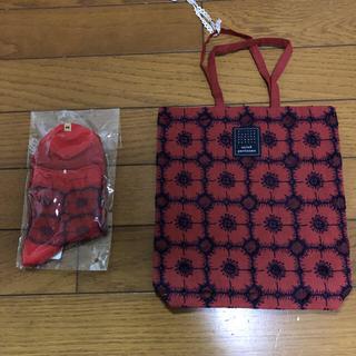 mina perhonen - ミナペルホネン★anemone★靴下&トーストバッグ
