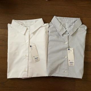 GU - GU 2WAYオーバーサイズシャツ XLサイズ 2枚セット