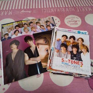 ジャニーズ(Johnny's)の即購入OK♡SixTONES 雑誌切り抜き&ピンナップセット (アイドルグッズ)