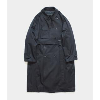 COMOLI - stein  Lay Oversized  Overlap Coat  19aw