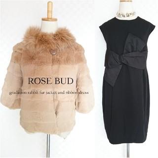 ROSE BUD - 2点◆約6万【ROSE BUD*ローズバッド】ファージャケット×ワンピース