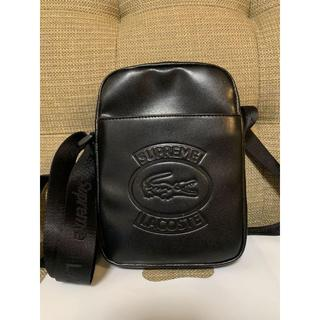 Supreme - 送料込 Supreme LACOSTE shoulder bag black黒