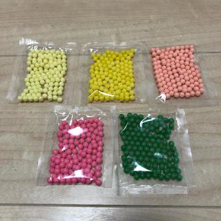 エポック(EPOCH)のアクアビーズ まるビーズ 5色セット 約100個以上入(知育玩具)