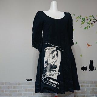 ヒステリックグラマー(HYSTERIC GLAMOUR)のヒステリックグラマー DESTROY Tシャツ ワンピース(ミニワンピース)