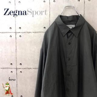 【香港製】ゼニアスポーツ 長袖シャツ ゆったり ビッグサイズ(シャツ)