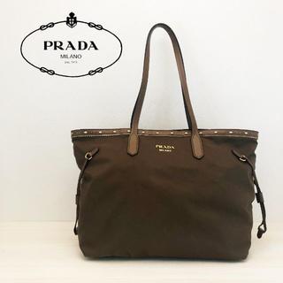 プラダ(PRADA)の美品 プラダ ナイロン ショルダー トートバッグ サフィアーノ(トートバッグ)