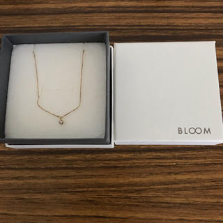 BLOOM - BLOOM ひと粒ダイヤモンドネックレス ゴールド