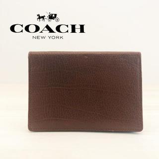 コーチ(COACH)のコーチ カードケース ブラウン(名刺入れ/定期入れ)