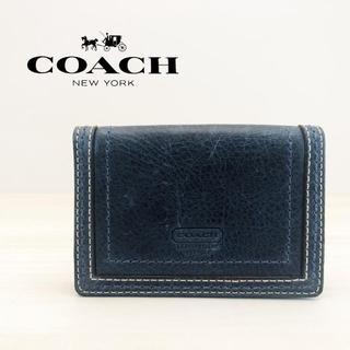 コーチ(COACH)の コーチ カードケース ブルー(名刺入れ/定期入れ)