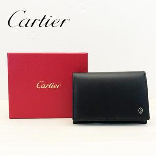 カルティエ(Cartier)の未使用 カルティエ パシャ カードケース ブラック(名刺入れ/定期入れ)
