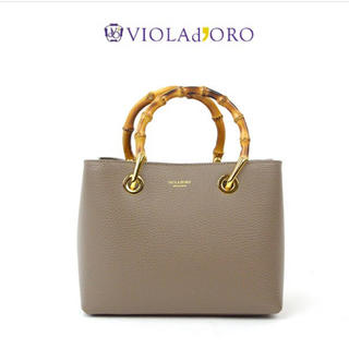 IENA - 【美品】VIOLAd'ORO ヴィオラドーロ バンブーハンドル トートバッグ