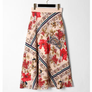 GRACE CONTINENTAL - Grace continental ボタニカルスカーフスカート