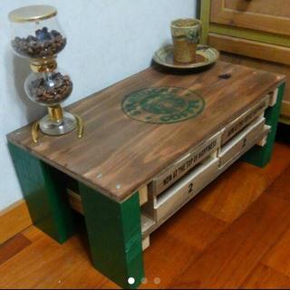 木目調シンプルモノトーンアンティークミニテーブル(ローテーブル)