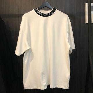 ACNE - 2020SS ACNE STUDIOS ネックロゴオーバーサイズTシャツ