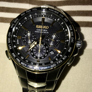 セイコー(SEIKO)の☆人気モデル☆海外限定SEIKO中古極美品 SSG010 コーチュラメンズ腕時計(腕時計(デジタル))