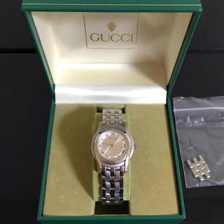 Gucci - GUCCI グッチ 5500L クォーツ レディース シルバー文字盤 稼働品