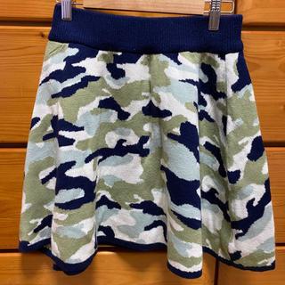 レピピアルマリオ(repipi armario)のレピピアルマリオ 迷彩スカート ニット素材(ミニスカート)