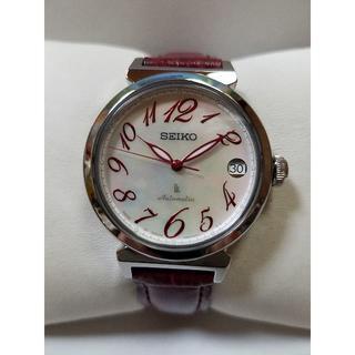セイコー(SEIKO)の美品 SEIKO LUKIA シェル文字盤 自動巻(腕時計)