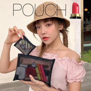 スタイルナンダ(STYLENANDA)の[新品]韓国 スタイルナンダ 3CE MESHPOUCH(ブラック) 黒 ポーチ(ポーチ)