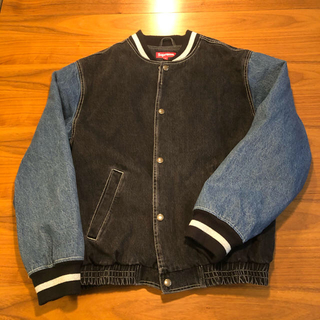 Supreme - Supreme denim varsity jacket