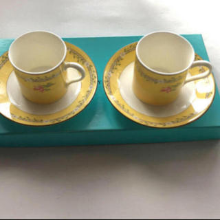 Tiffany & Co. - 新品 未使用 ティファニー  デミタスカップ&ソーサーピンクチューリップ2客