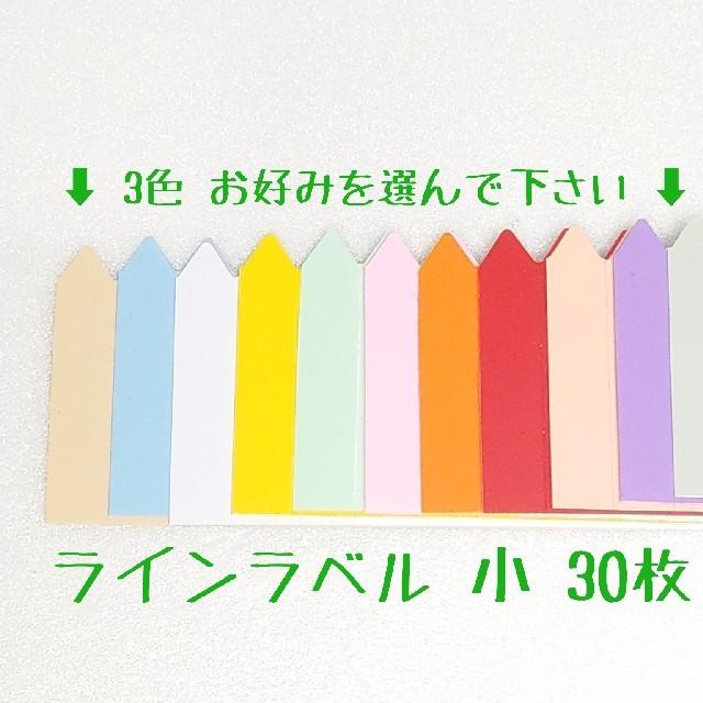 ◎30枚◎ 小 選べるカラー ラインラベル 園芸ラベル ハンドメイドのフラワー/ガーデン(その他)の商品写真