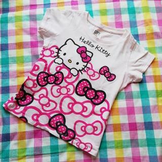 UNIQLO - ユニクロ サンリオ ハローキティ 半袖 Tシャツ 120 ピンク