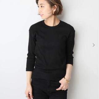 ドゥーズィエムクラス(DEUXIEME CLASSE)のRIB Tシャツ ブラック(カットソー(長袖/七分))