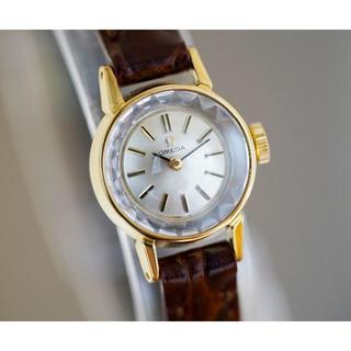 オメガ(OMEGA)の美品 オメガ カットガラス ゴールド 手巻き レディース Omega(腕時計)