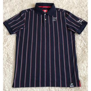 ニューバランス New Balance メンズプリント半袖ポロシャツ サイズ6