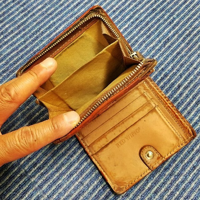 REDWING(レッドウィング)のレッドウイング 2つ折り本革財布 中古 メンズのファッション小物(折り財布)の商品写真