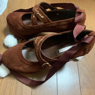 リズリサ(LIZ LISA)のリズリサ♡ポンポンブーツ♡レースアップ♡bobon21♡(ブーツ)