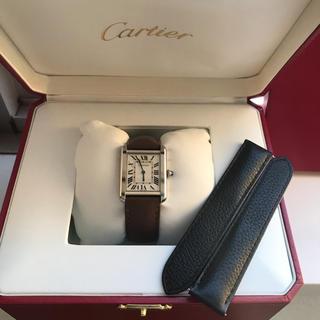 Cartier - Cartierカルティエタンクソロsm腕時計未使用ベルト付き美品レディース
