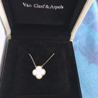 Van Cleef & Arpels - ヴァンクリーフ&アーペル 新品 ネックレス アルハンブラ ホワイトゴールド