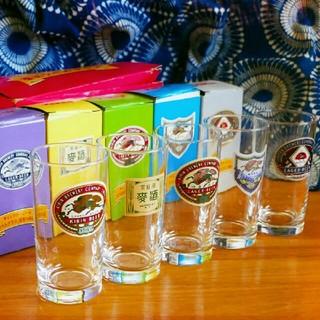 キリンラガービール復刻ラベルグラス×5本[レトロ×コップ×ノベルティ])