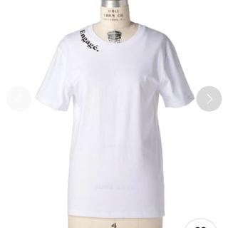 Drawer - Les Petits Basics コットン フロッキープリントTシャツ