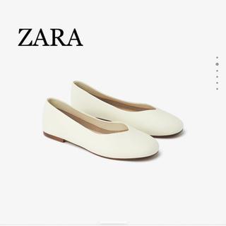 ZARA - ZARA♡レザーフラットシューズ