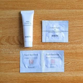 アクセーヌ(ACSEINE)のACSEINE/アクセーヌ サンプルセット 試供品 洗顔料 化粧下地 日焼け止め(サンプル/トライアルキット)