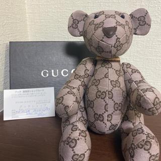 Gucci - 【希少】GUCCI  bear ぬいぐるみ GGライン