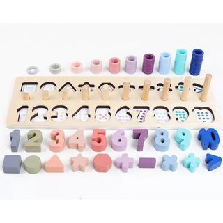 知育玩具モンテッソリー 数字 型はめパズル