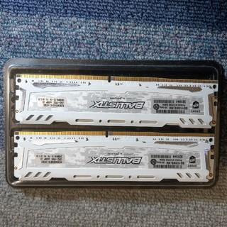 【中古】8GB×2  DDR4-2400MHz  BALLISTIX 【メモリ】
