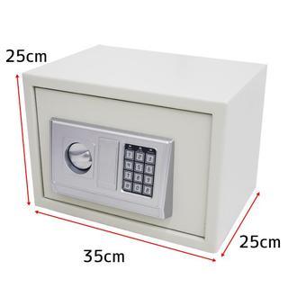 小型 電子金庫デジタル小型金庫 25L テンキー式 防犯 白 03