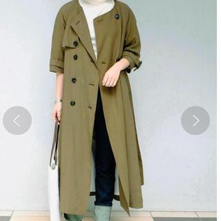 トゥデイフル(TODAYFUL)のcollarless  trench coat(トレンチコート)